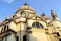 Venice (Italy). Basilica of Santa Maria della Salute (Saint Mary of Health) at Punta della Dogana in Venice.