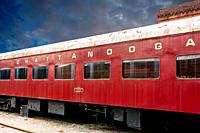 Chattanooga Choo Choo steam locomotive carriage made famous by the song recorded by Glenn Miller at the old railway station in Chattanooga Tennessee U...