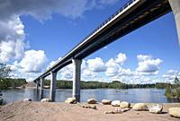 Vekaransalmi bridge in Sulkava, Finland.