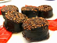 Morcilla with red pepper. Burgos, Spain.