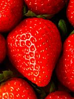Strawberry. Close view.
