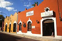 Colonial buildings at the historic center, Merida, Yucatan State, Mexico, Central America