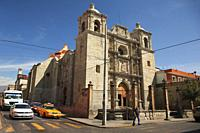 View to the Sangre de Cristo Church at the historic center, Oaxaca, Oaxaca State, Mexico, Central America