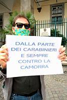 Francesco Emilio Borrelli,politician Regional Councilor of Campania( Consigliere Regionale della Campania) of party DAVVERO VERDI with the activists i...