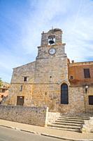 Torre del Reloj museum. Palenzuela, Palencia province, Castilla Leon, Spain.