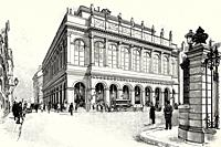 Grand Theater of Lyon before the murder of Marie François Sadi Carnot (1837-1894) President of the French Third Republic, 1894. France, Europe. Old XI...