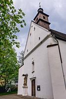 Church of Saint Judoc in Frydek-Mistek city in the Moravian-Silesian Region of Czech Republic.
