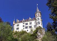 Europe, Luxembourg, Larochette, Meysembourg Castle.