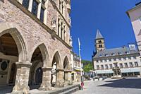 Europe, Luxembourg, Echternach, Denzelt (Historic Courthouse) on the corner of Place du Marche.