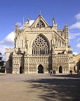 Exeter Cathedral Devon England.