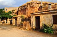 San Esteban de Gormaz, wall castle and wine cellars. Soria province, Castilla y Leon, Spain.