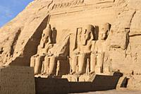The great temple of Ramesses II, Abu Simbel, Egypt.