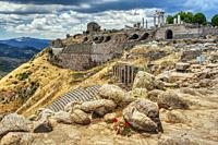 ancient Greek and Roman city of Pergamon, Bergama, Turkey.