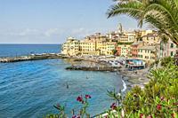 Scenic view at Bogliasco, Rivera di Levante, Liguria, Italy.
