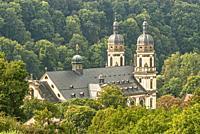 Schöntal Monastery in the Jagst Valley in Baden-Württemberg, Germany.