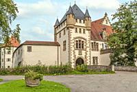 Jagsthausen Castle, also called Old Castle or Götzenburg, Jagsthausen, Baden-Württemberg, Germany.