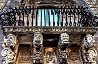 Europe, Italy, Sicily, Catania, Monastery of San Nicolo l´Arena, Benedictine Monastery of Catania, Sicilian late Baroque architecture style - UNESCO W...