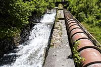 pipeline of the Ip hydroelectric plant, Canfranc, Aragon Valley, Jacetania, Huesca, Spain.