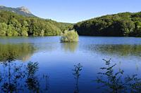 View of Santa Fe Reservoir. Montseny Natural Park. Catalonia. Spain.