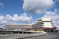 Sixties-era buildings at Tegel Airport. Berlin.