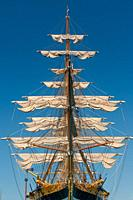 22 August 2020 ; The vessel Amerigo Vespucci is the training-ship of the Italian Military Navy Academy.