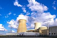 Doel Nuclear Power Station, Flemish province of East Flanders, Belgium, Europe.