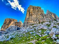 Beautiful mountain peak in summer season.