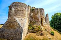 Old ruined castle at Conches-en-Ouche, Normandy, France.
