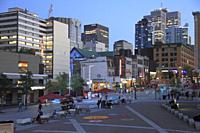 Canada, Quebec, Montreal, Quartier des Spectacles,.