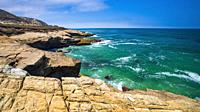 Lobo Canyon Beach, Santa Rosa Island, Channel Islands National Park, California USA.