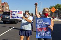 Detroit, Michigan - A rally to save the U. S. Postal Service. The rally was held outside the Old Redford Branch of the U. S. Postal Service, which has...