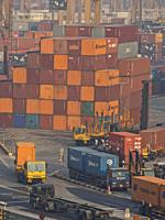 Port of Singapore container cargo terminal, run by PSA, one of the busiest shipping terminals in the world.