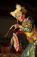 Traditional Balinese dancer in Ubud, Bali, Indonesia.
