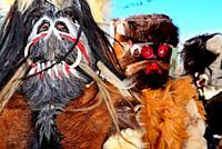 Carantoña. Beast or animal mask of Acehuche, Caceres, Spain