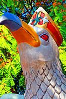 Seagull head of the festive troupe, Catalan popular culture, Barcelona, ??Catalonia, Spain