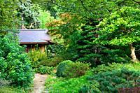 Albert Kahn's gardens at Boulogne Billancourt, France.