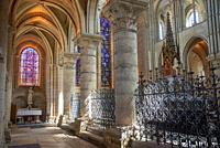 interior of cathedral Notre Dame in Laon, France