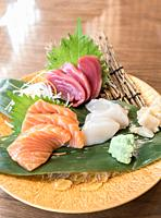 Sashimi grand luxuary japanese cuisine.