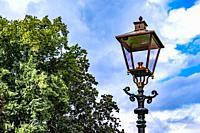 Historic street lantarn in Zutphen, The Netherlands, Europe.