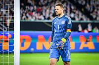 Wolfsburg, Germany, March 20, 2019: German goalkeeper Manuel Neuer during the international friendly game between Germany and Serbia at Volkswagen Are...