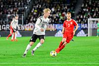 Wolfsburg, Germany, March 20, 2019: footballer Julian Brandt (GER) in action during the international soccer game between Germany and Serbia at Volksw...