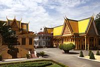 Inside the gardens of the royal palace in Cambodia.