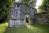 Abbey of St Maurice. Clohars-Carnoët, Finistere, Brittany, France.