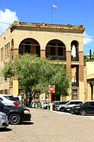 The US Postal Service building in the center of Bisbee AZ.