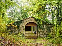 Stone shed in a woodland - Umbria region, Italy.