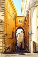 Vicolo Scanderbeg in Rione Trevi - Rome, Italy. Vicolo Scanderbeg takes its name from the building that the Albanian prince Giorgio Castriota known as...