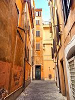 Vicolo dei Maroniti in Rione Trevi - Rome, Italy.