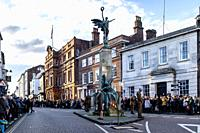 Remembrance Sunday, Lewes, East Sussex, UK.