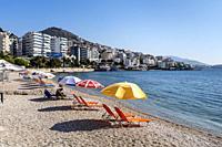 Saranda Beach, Saranda, Albania.