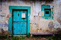 An old doorway near Arnuero, Cantabria, Spain.